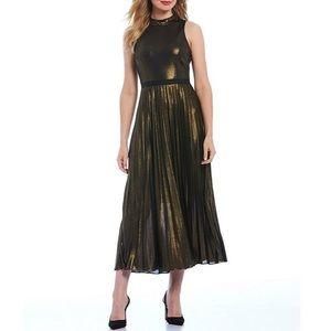 NWT metallic halter dress size 2